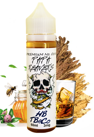 """HB-TbaCo- """"for all lovers of an on point tobacco flavour, with rich earthy tobacco undertones complimented with subtle hints of Bourbon and Honey"""""""